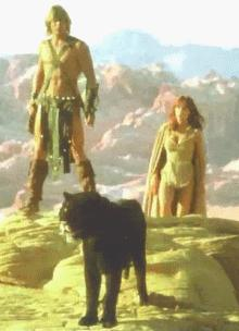 Tanya Roberts & Marc Singer in The Beastmaster